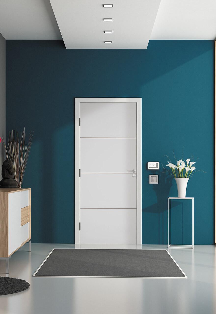 Porte intérieure gravées design Milan Maine
